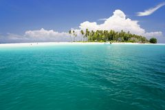 Tropical Island Paradise Stock Images