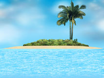 Tropical island. Royalty Free Stock Image