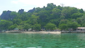 Tropical island. In the Philippines stock photography