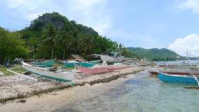 Tropical island. In the Philippines royalty free stock image