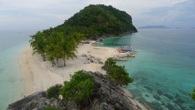 Tropical island. In the Philippines royalty free stock photos