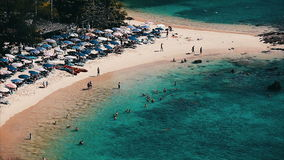 Tropical island of Phuket. Ya Nui beach with clear water and fine sand. Set of clips stock footage