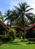 Tropical island resort. A holiday resort on a tropical island stock photo