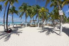 Tropical island resort beach Royalty Free Stock Photos