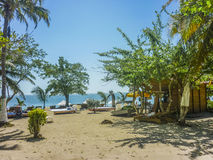 Tropical Island Resort in Cartagena Colombia Royalty Free Stock Photography