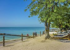Tropical Island Resort in Cartagena Colombia Royalty Free Stock Photo