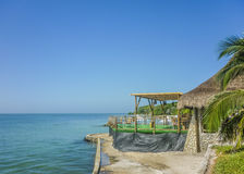 Tropical Island Resort in Cartagena Colombia Stock Images