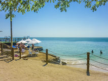 Tropical Island Resort in Cartagena Colombia Stock Photos