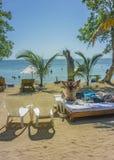 Tropical Island Resort in Cartagena Colombia Stock Photo