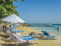 Tropical Island Resort in Cartagena Colombia Royalty Free Stock Photos