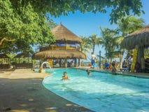 Tropical Island Resort in Cartagena Royalty Free Stock Photos