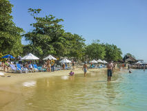 Tropical Island Resort in Cartagena Colombia Stock Photography