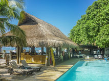 Tropical Island Resort in Cartagena Colombia. CARTAGENA, COLOMBIA, JANUARY - 2015 - Beautiful sunny day at tropical island resort in Cartagena, the most famouse Royalty Free Stock Photos