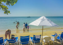 Tropical Island Resort in Cartagena Colombia Royalty Free Stock Image