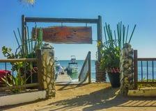 Tropical Island Resort in Cartagena Stock Photography