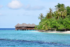 Tropical Island Resort. In Maldives Royalty Free Stock Photos