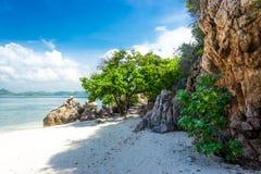 Free Tropical Island Rock On The Beach With Blue Sky. Koh Kham Pattaya Thailand Royalty Free Stock Photography - 134479347