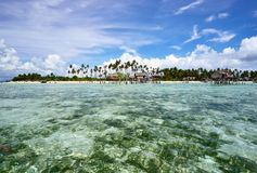 Tropical island in Sabah Borneo Stock Photography
