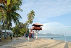 Tropical Island Scene stock photo