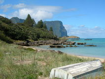 Tropical Island scene on Lord Howe Island Stock Photo