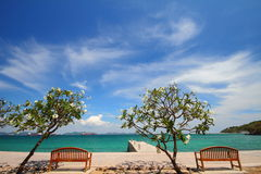 Tropical island scenic Stock Images
