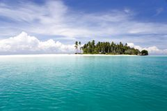 Tropical Island and Sea stock image
