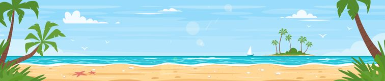 Free Tropical Island Sea Shore Stock Photography - 126243812