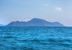 Tropical island in sea Stock Photos