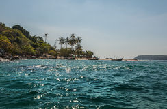 Tropical island in sea Royalty Free Stock Images