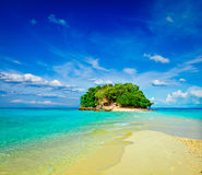 Tropical island in sea royalty free stock image