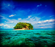 Tropical island in sea Stock Photography