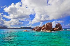 Tropical island at Seychelles Royalty Free Stock Photography