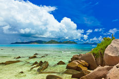 Tropical island at Seychelles Stock Photography