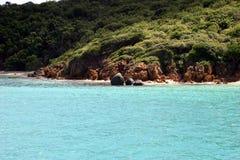 Tropical island shoreline Royalty Free Stock Photo