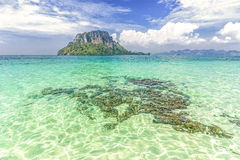 Tropical island, summer holidays background Royalty Free Stock Images