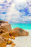 Tropical island on the sunny day Stock Photography
