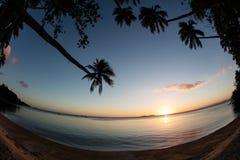 Tropical Island Sunset Stock Image
