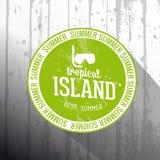 Tropical Island tag Stock Image