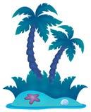 Tropical island theme image 4 Stock Photo