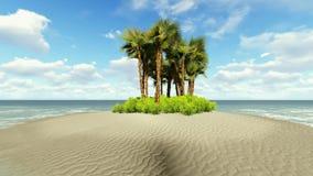 Tropical island vacation idyllic background stock video