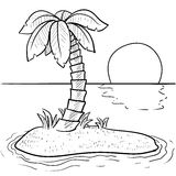 Tropical island vector Royalty Free Stock Photography