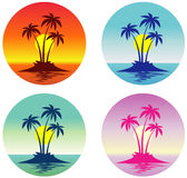 Tropical Island (Vector) Royalty Free Stock Photo