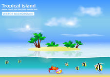 Tropical island vector background Stock Photo