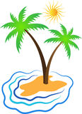 Tropical island. A vector drawing represents tropical island design Stock Images