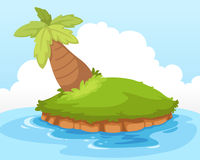 Tropical island vector Stock Image