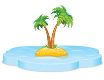 Tropical island. Vector Royalty Free Stock Image