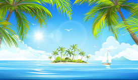 Tropical island. Vector Royalty Free Stock Photos