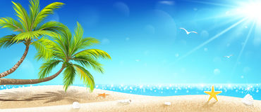 Tropical island. Vector Stock Photos