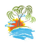 Tropical island vector Stock Photo