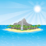Tropical island. Stock Images